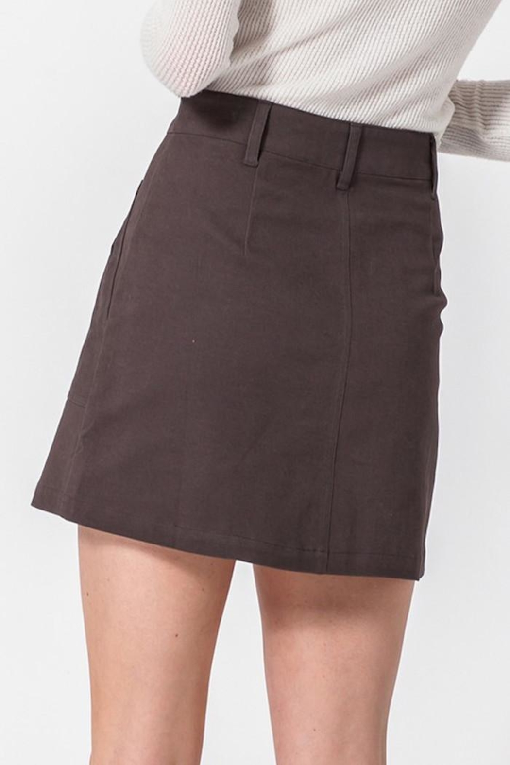 HYFVE Button Up Skirt - Back Cropped Image