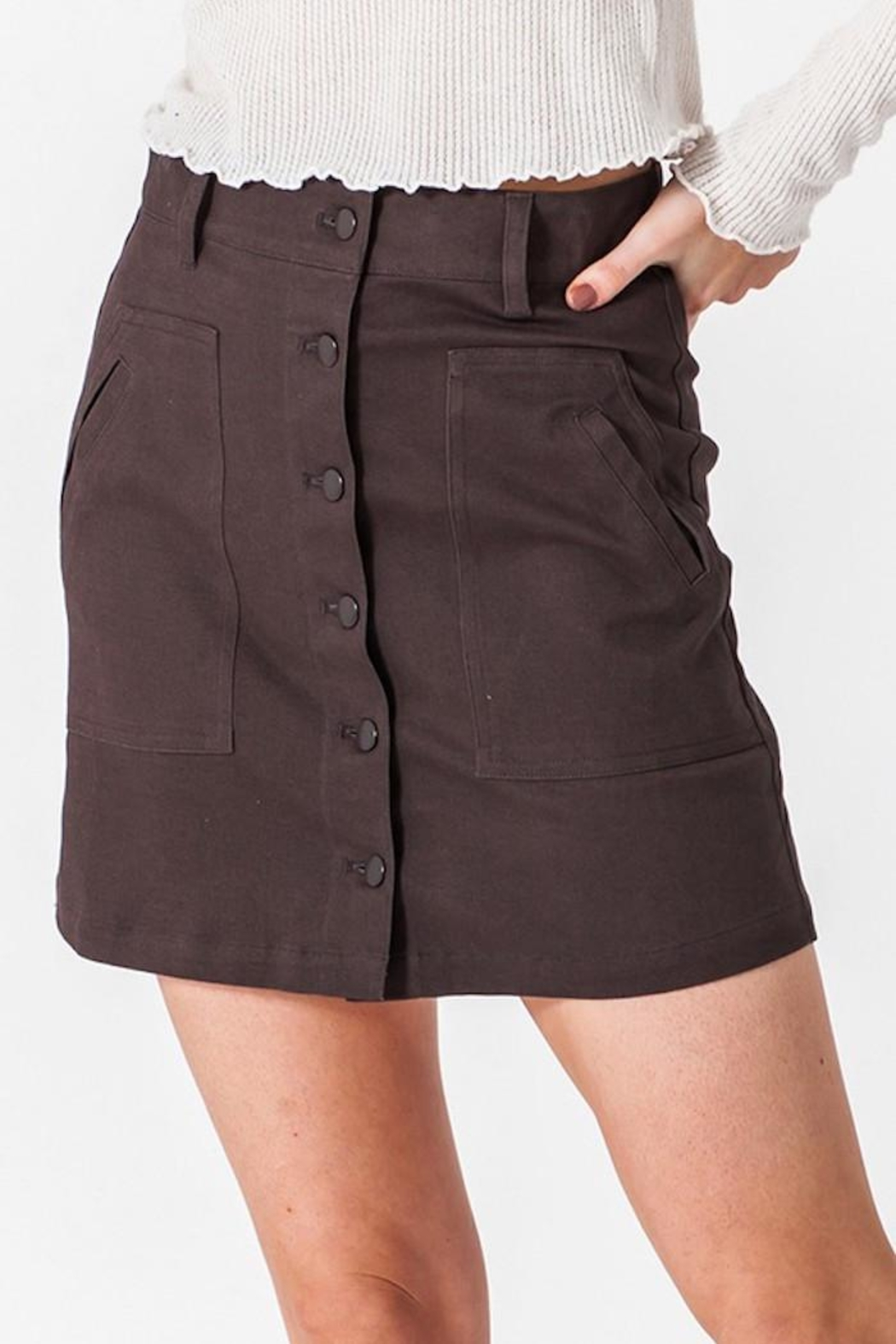 HYFVE Button Up Skirt - Front Full Image