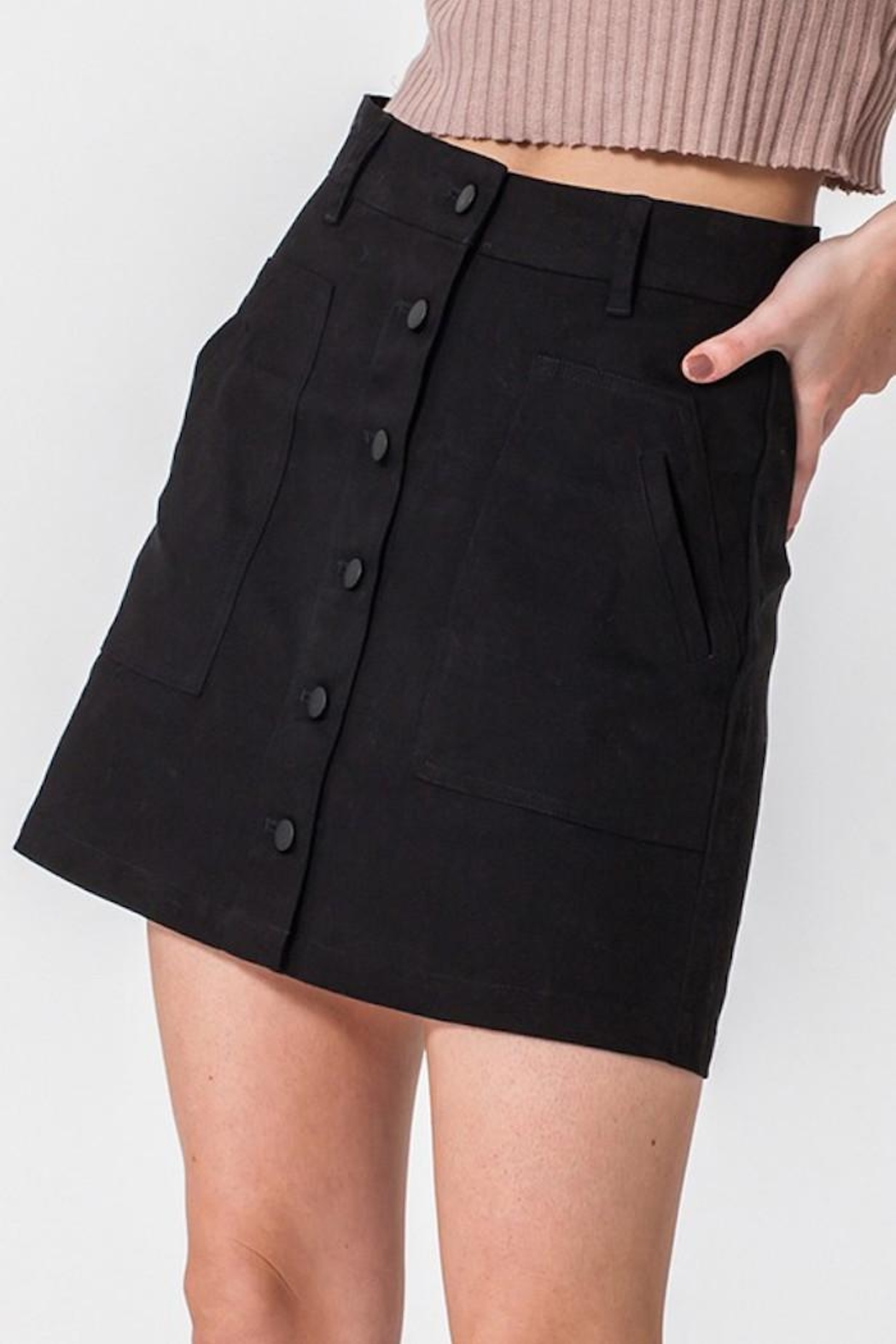 HYFVE Button Up Skirt - Side Cropped Image