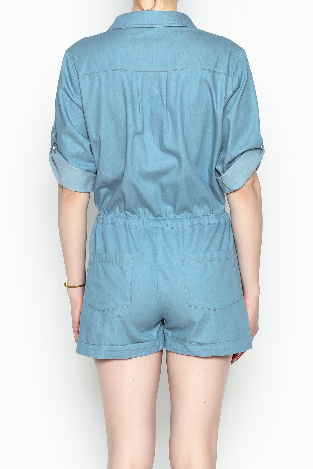 HYFVE Chambray Romper - Back Cropped Image