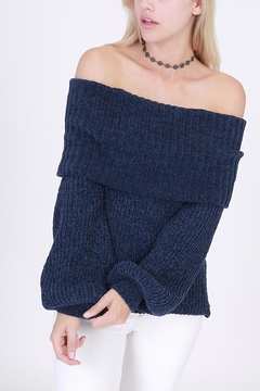 Shoptiques Product: Chenille Off-Shoulder Sweater