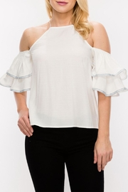 HYFVE Cold Shoulder Blouse - Front cropped