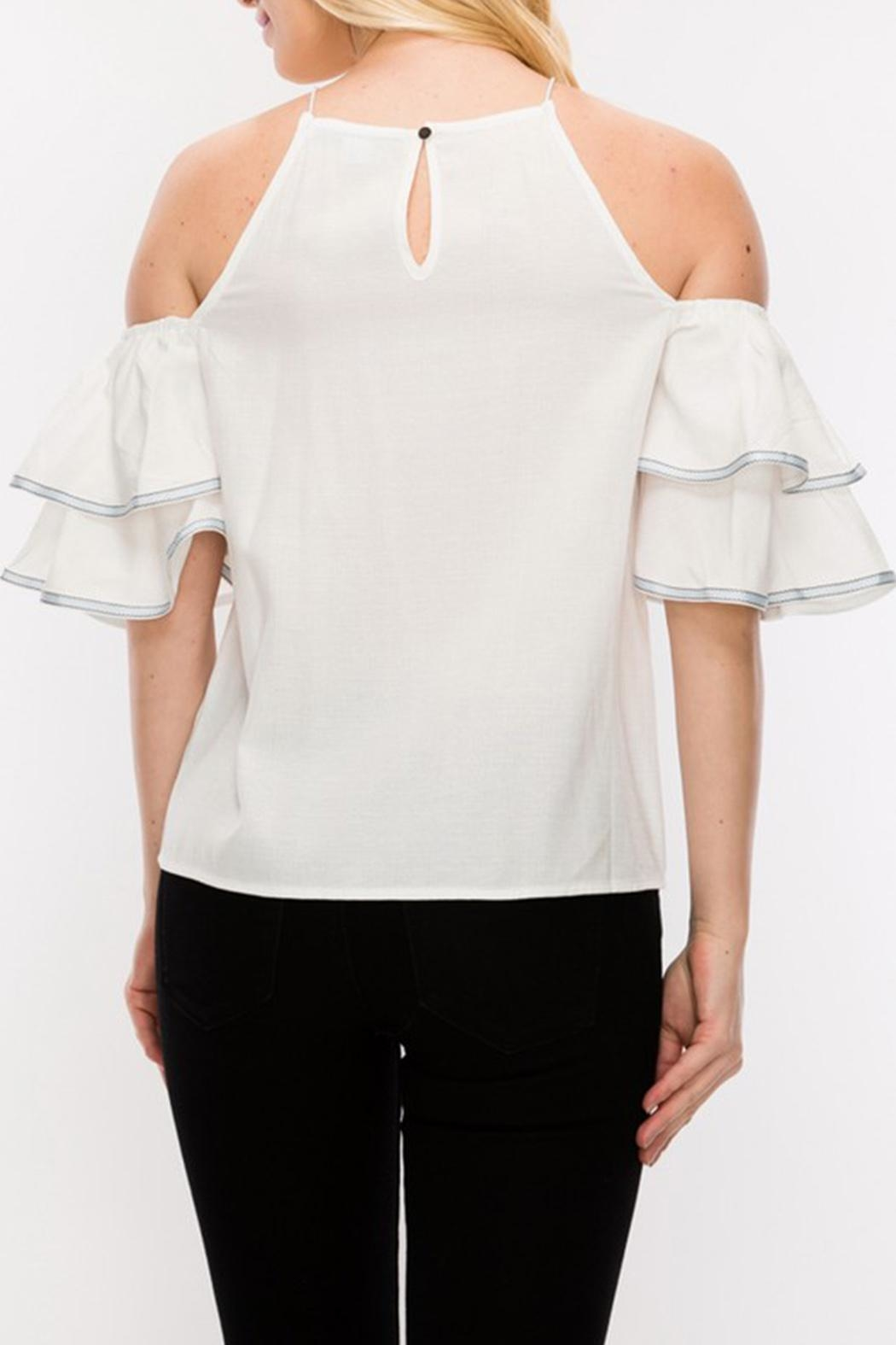 HYFVE Cold Shoulder Blouse - Side Cropped Image