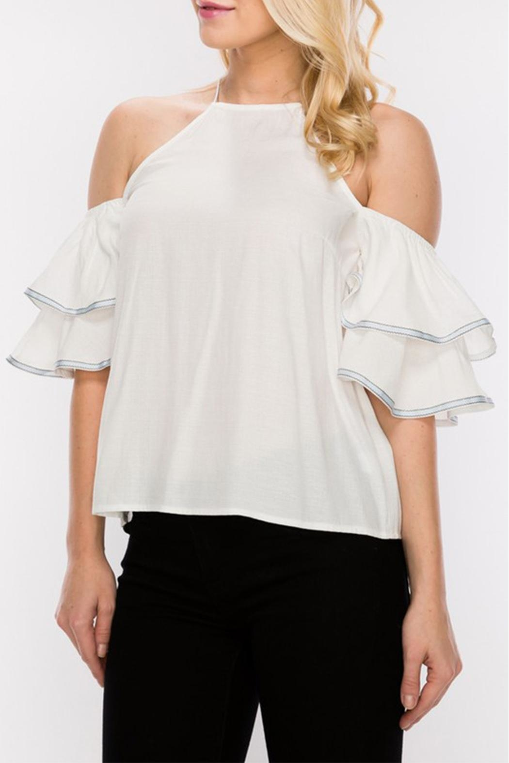 HYFVE Cold Shoulder Blouse - Front Full Image