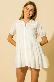 HYFVE Collared  Tiered Mini Dress - Front cropped