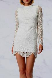 HYFVE Cream Crocheted Dress - Product Mini Image