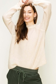 HYFVE Cream Distressed Sweater - Product Mini Image