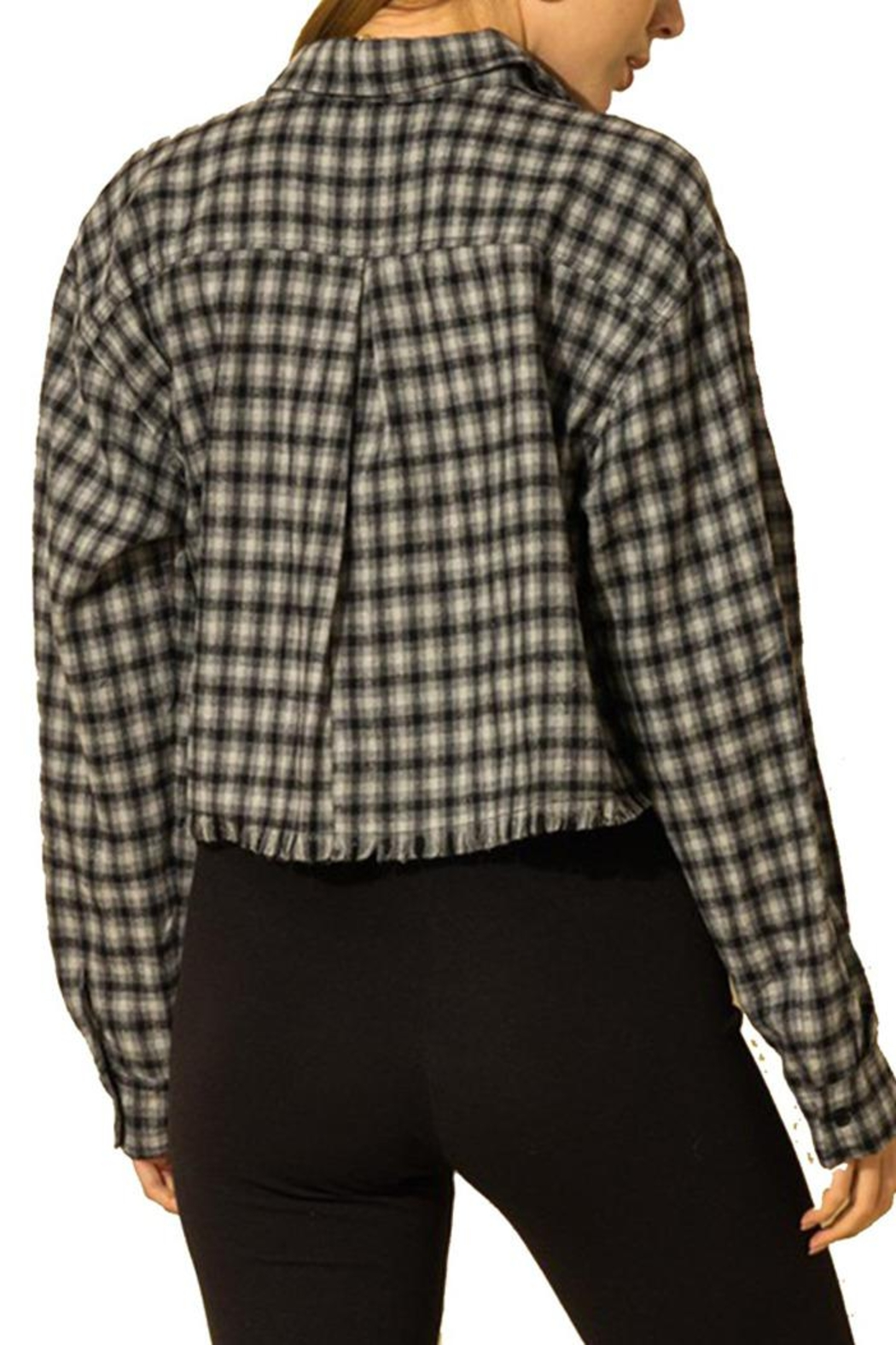 HYFVE Cropped Flannel Shirt - Front Full Image