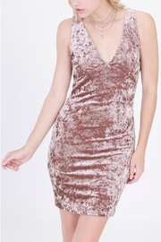 HYFVE Crushed-Velvet Bodycon Dress - Product Mini Image