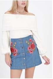 HYFVE Denim Embroidered Skirt - Front cropped