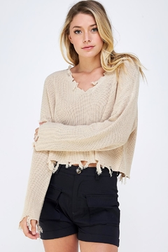 Shoptiques Product: Distressed Detail Sweater