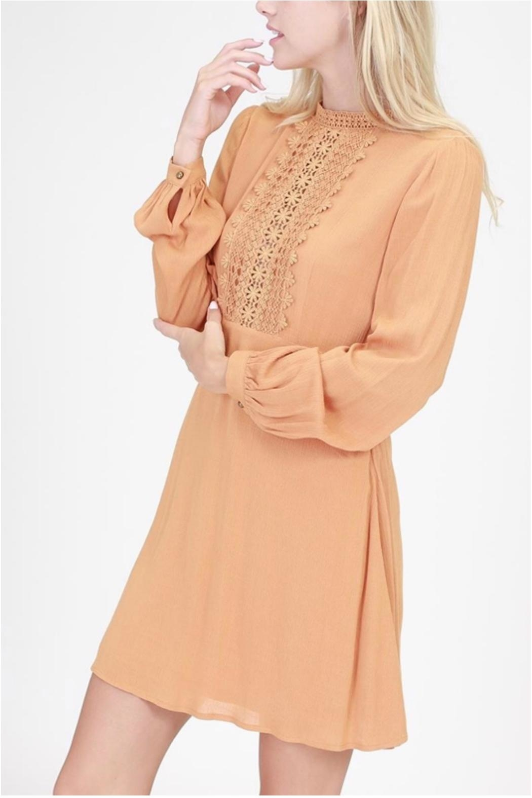 HYFVE Embroidered Frock Dress - Front Full Image