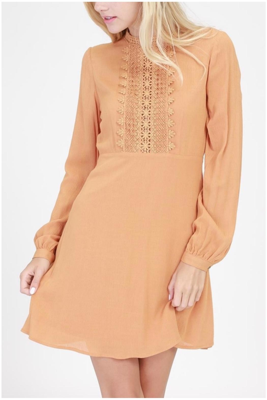 HYFVE Embroidered Frock Dress - Main Image