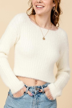 HYFVE Eyelash Crop Sweater - Product List Image