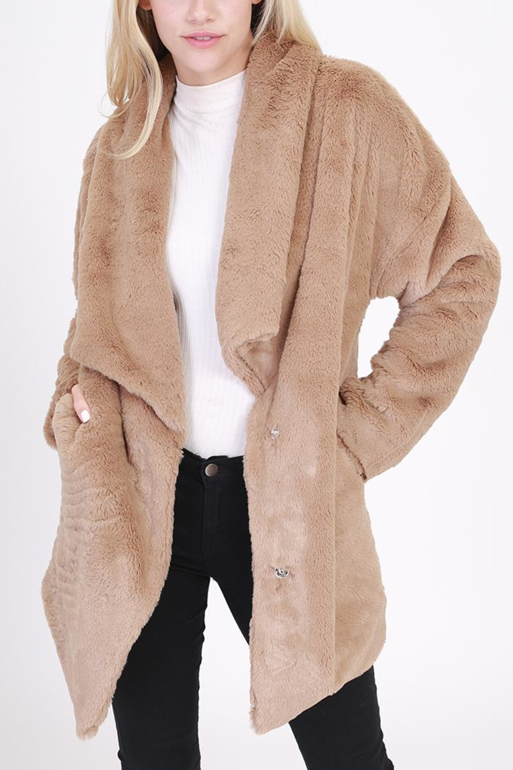 HYFVE Faux Fur Coat - Main Image