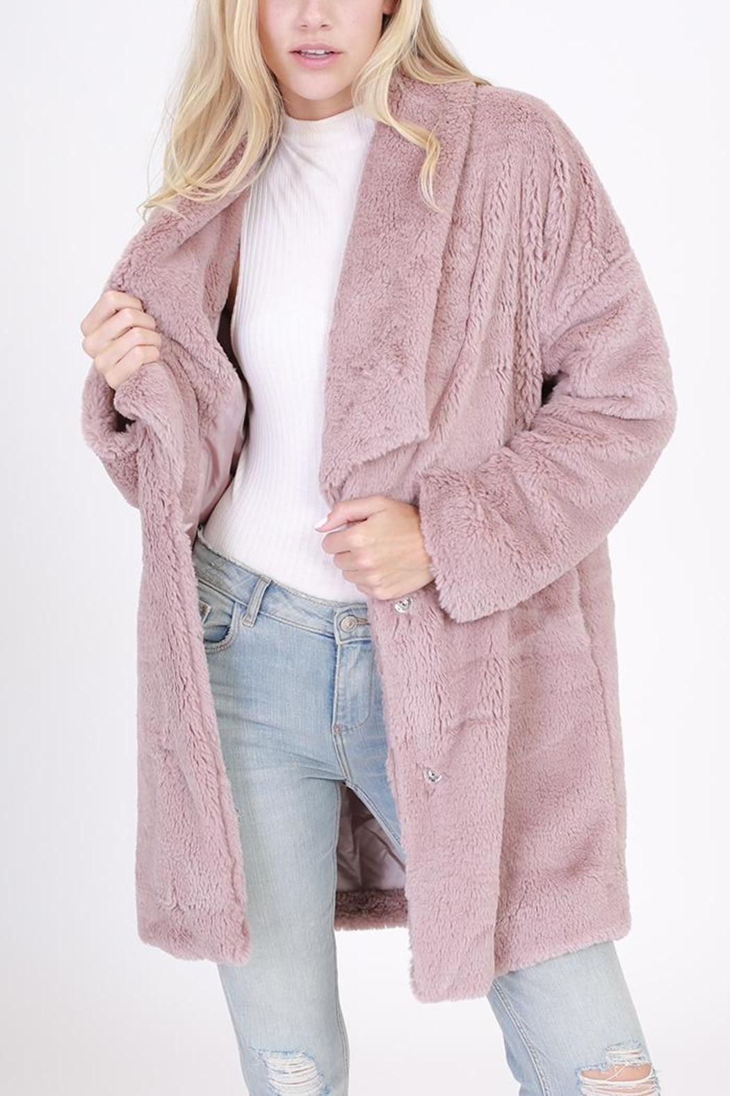 HYFVE Faux Fur Coat - Front Cropped Image