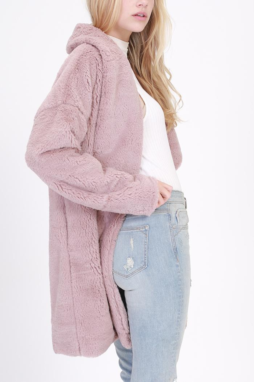 HYFVE Faux Fur Coat - Front Full Image
