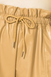 HYFVE Faux Leather Paperbag Waist Shorts - Other
