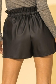 HYFVE Faux Leather Paperbag Waist Shorts - Side cropped