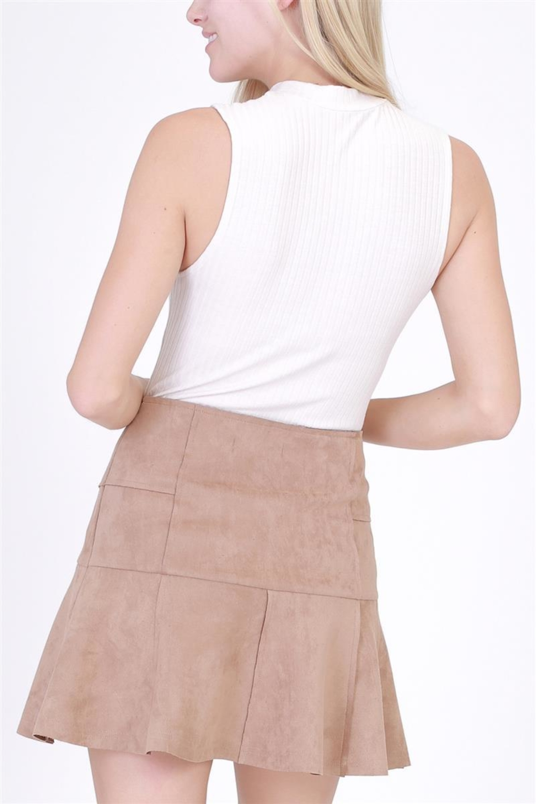 HYFVE Faux Suede Skirt - Front Full Image