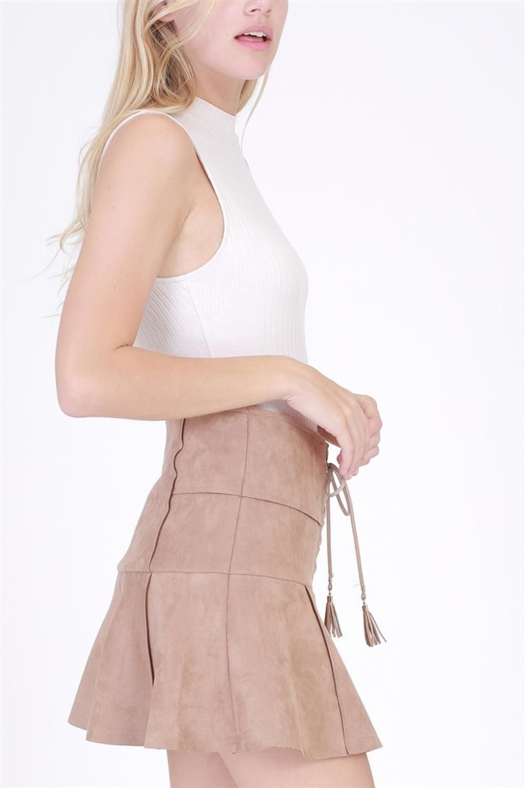 HYFVE Faux Suede Skirt - Side Cropped Image