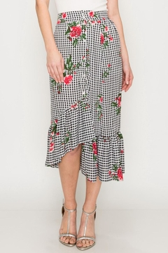 Shoptiques Product: Floral Gingham Skirt