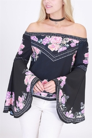 HYFVE Floral Off Shoulder Blouse - Product Mini Image