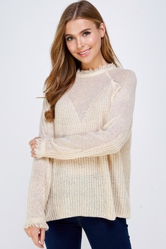 Shoptiques Product: Fray Collar Sweater