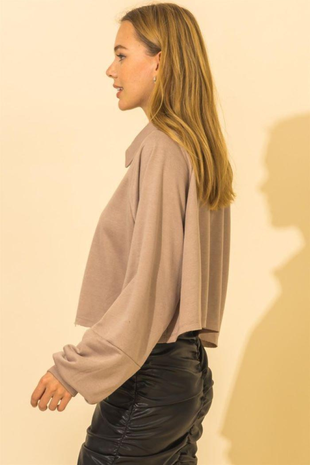 HYFVE French Terry Crop Top - Side Cropped Image
