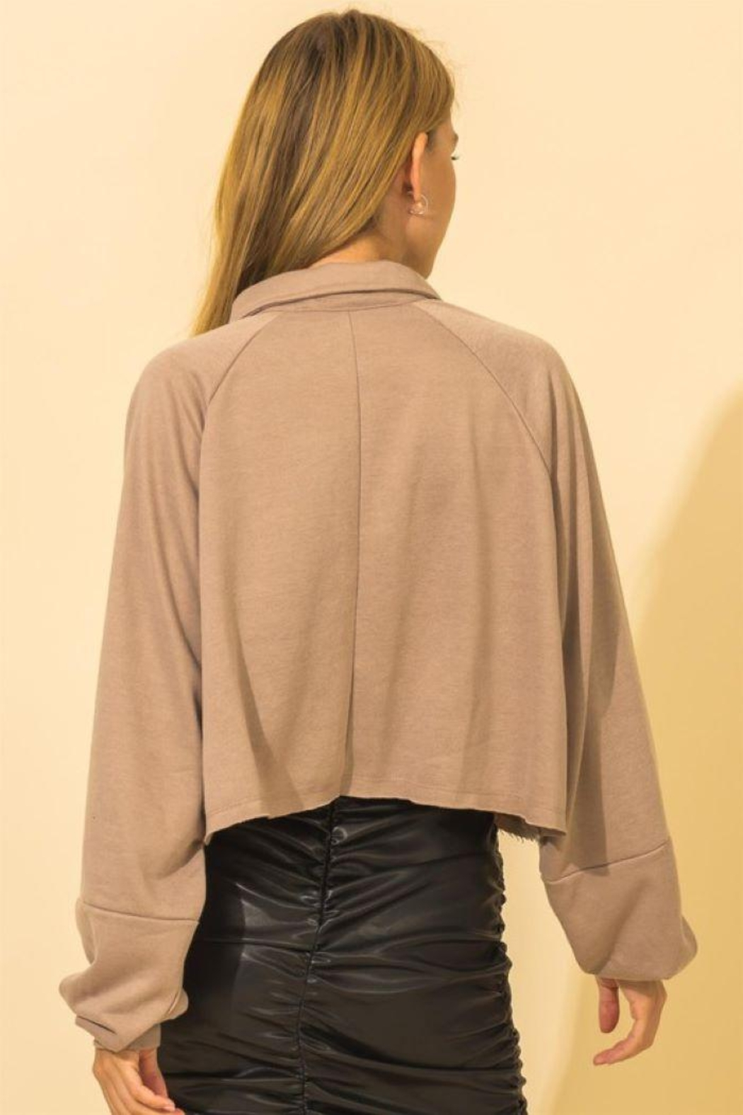 HYFVE French Terry Crop Top - Back Cropped Image