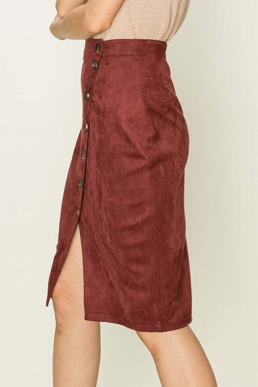 HYFVE Fuax Suede Skirt - Front Full Image