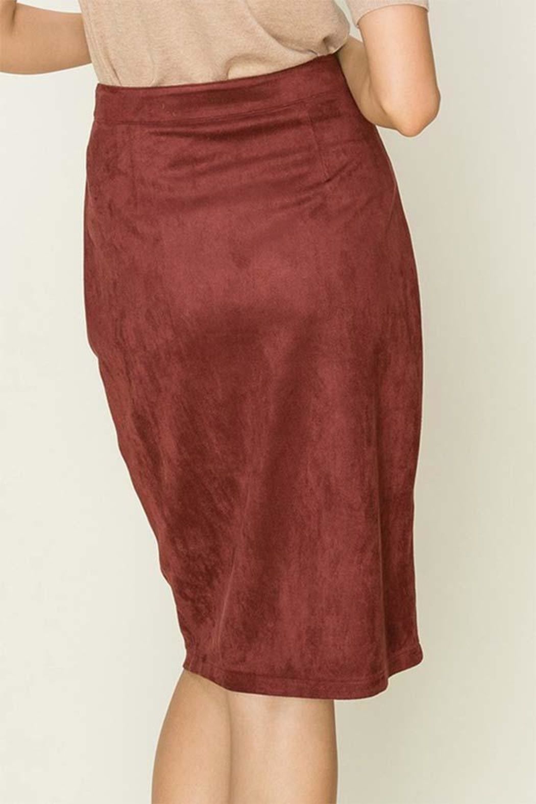 HYFVE Fuax Suede Skirt - Side Cropped Image