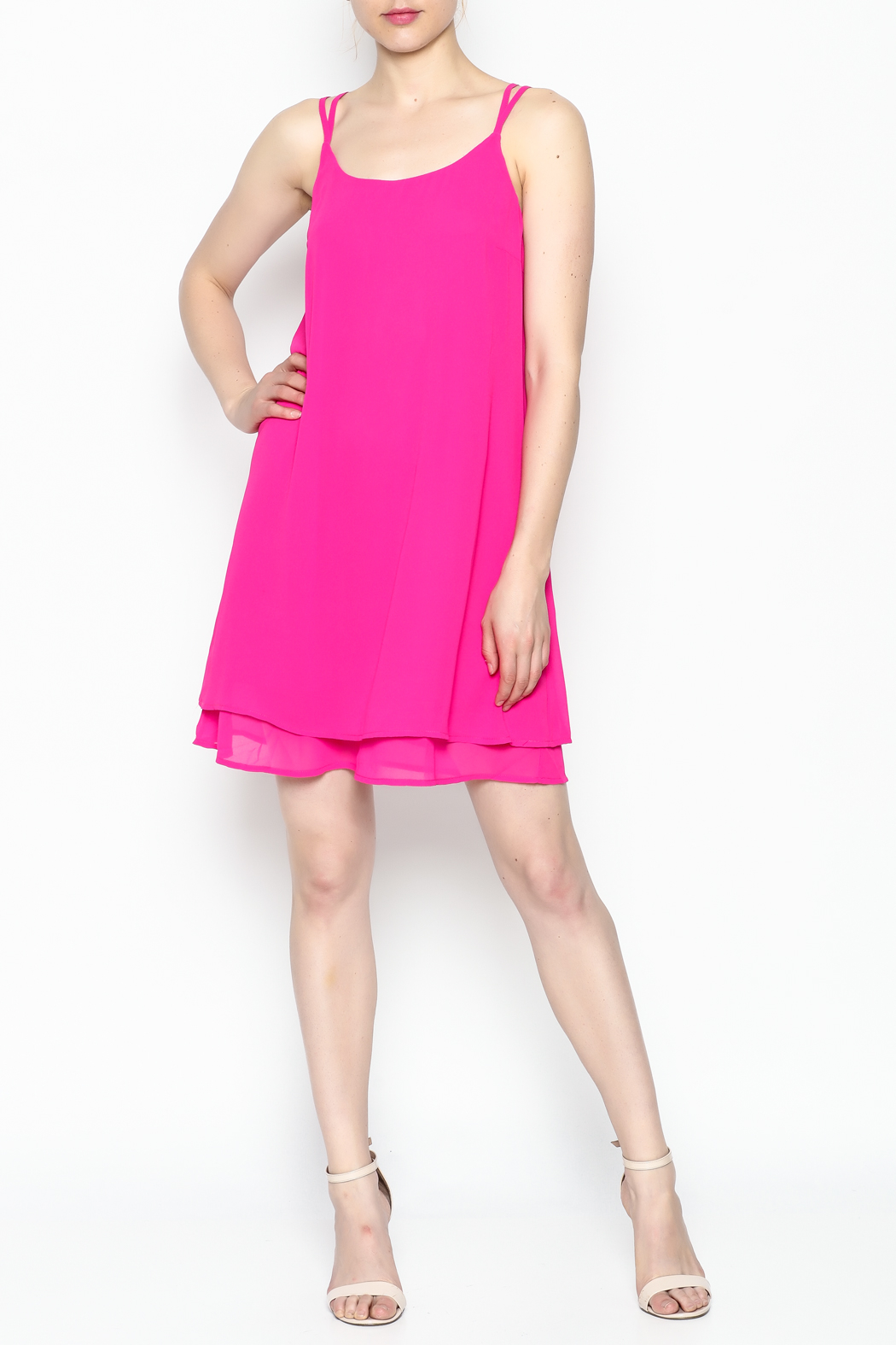 HYFVE Fuchsia Dress - Side Cropped Image