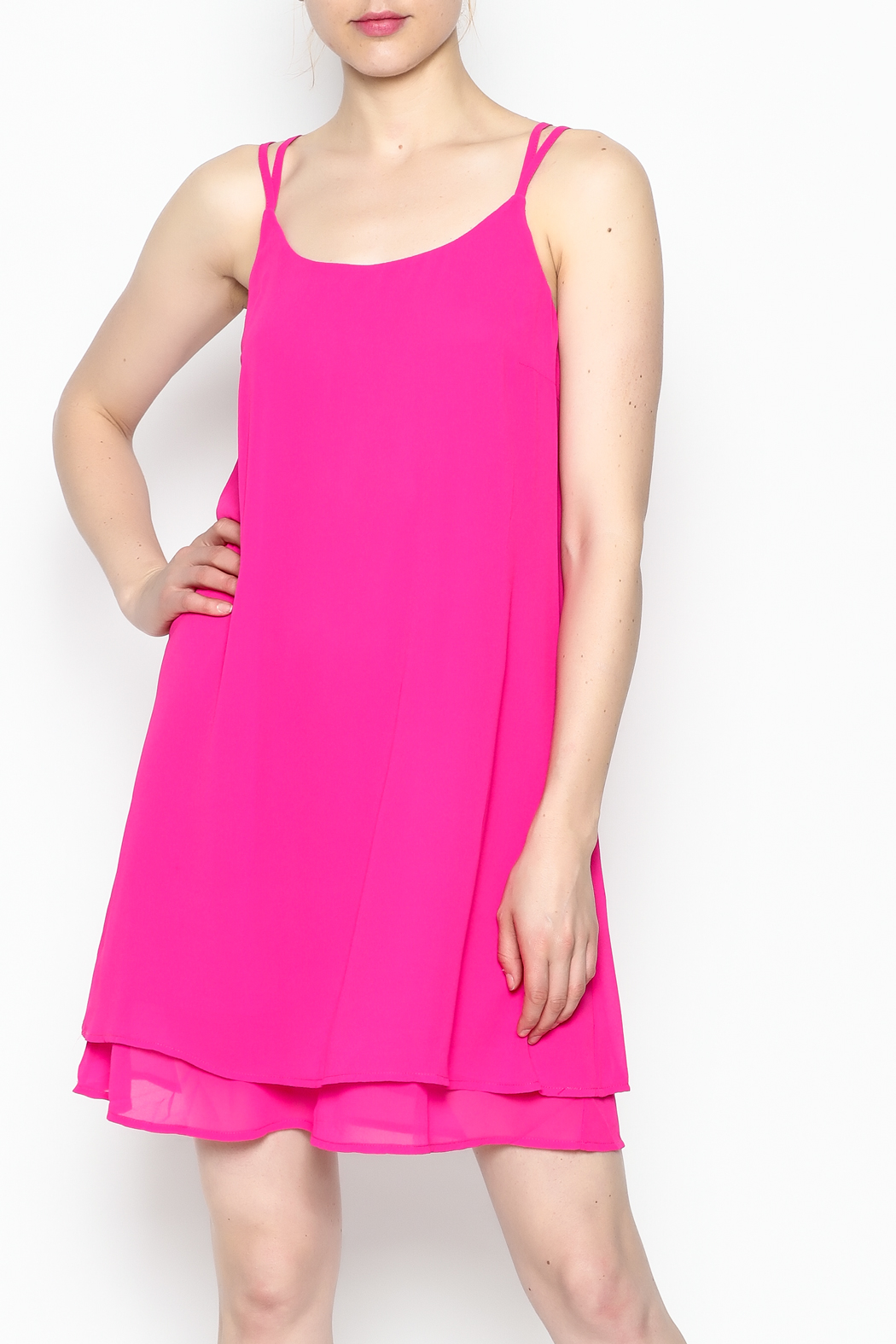 HYFVE Fuchsia Dress - Front Cropped Image