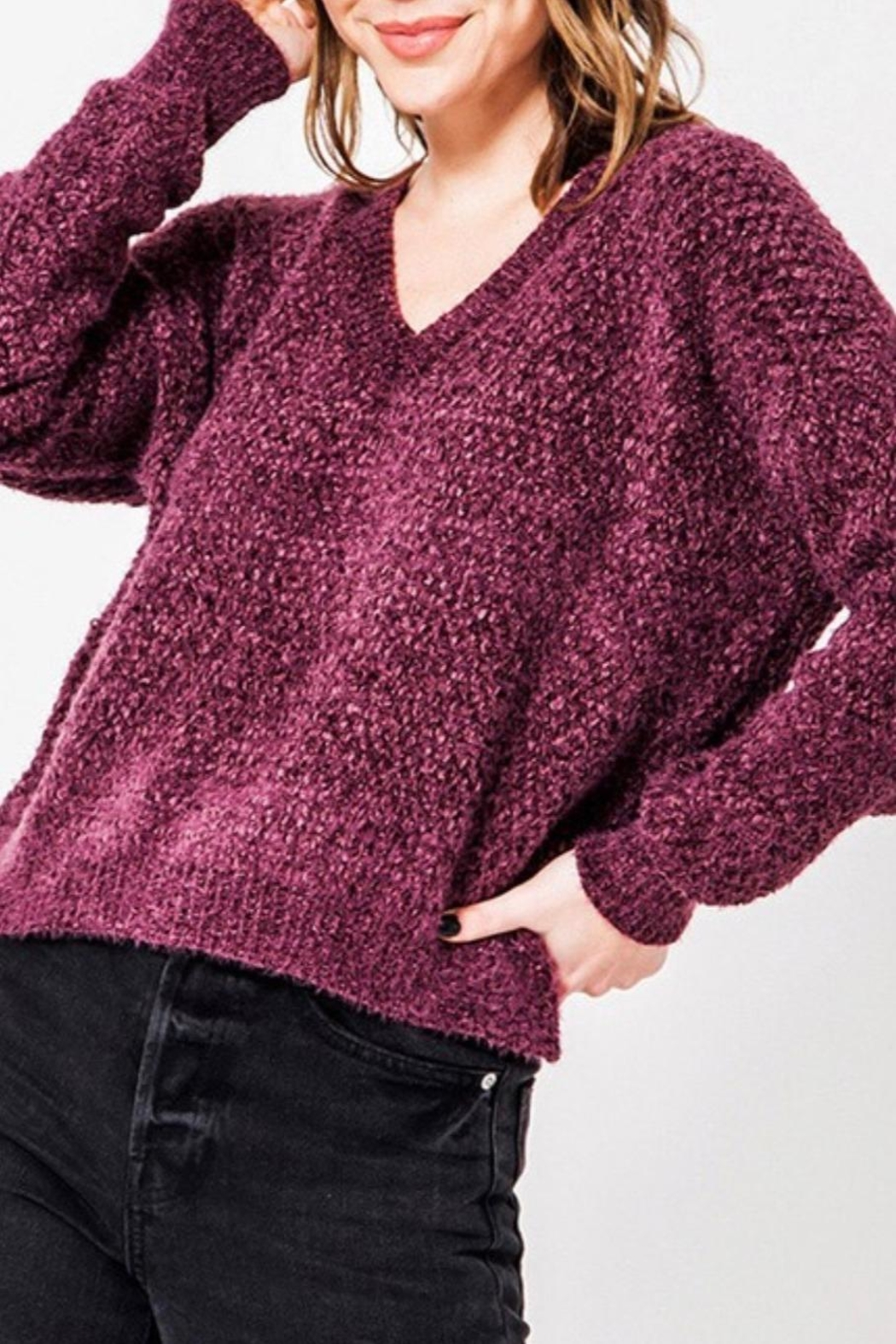 HYFVE Fuzzy Chenille Sweater - Main Image