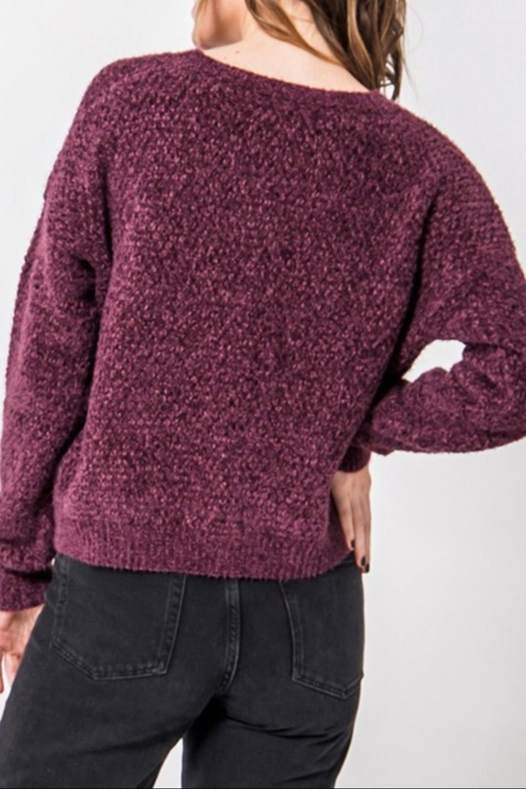HYFVE Fuzzy Chenille Sweater - Front Full Image