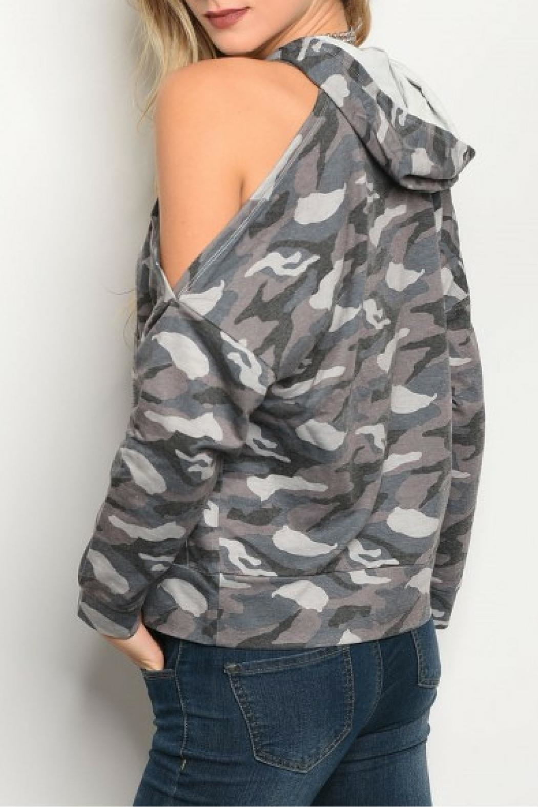 HYFVE Gray Camouflage Top - Front Full Image