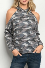 HYFVE Gray Camouflage Top - Front cropped
