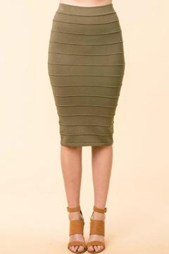 Shoptiques Product: Green Ribbed Skirt