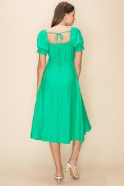 HYFVE Green Wrapped Midi-Dress - Side cropped