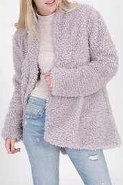 HYFVE Grey Faux Fur - Front cropped