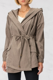 HYFVE Grey Hooded Jacket - Front cropped