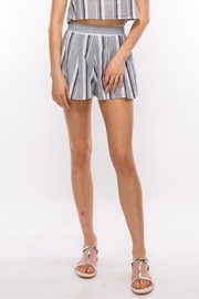 HYFVE Grey Stripe Shorts - Product Mini Image
