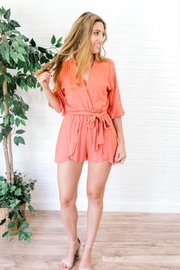 HYFVE Hawaiian Orange Romper - Front full body