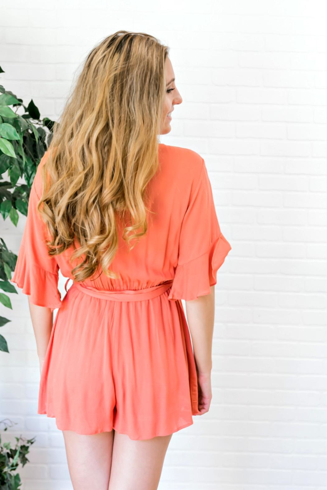 HYFVE Hawaiian Orange Romper - Side Cropped Image