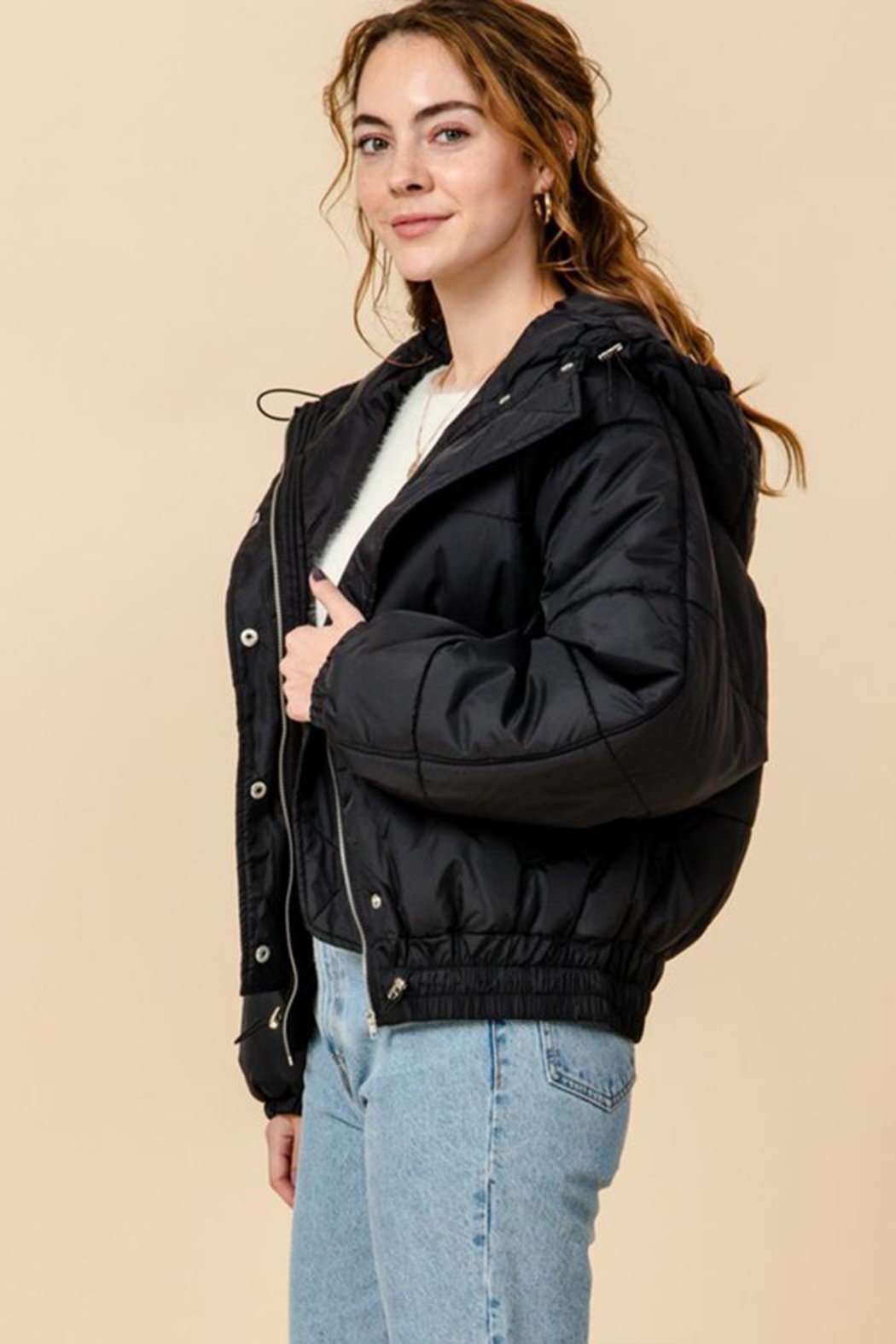 HYFVE Hooded Puffer Jacket - Side Cropped Image