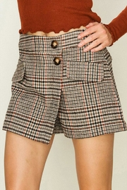 HYFVE Houndstooth Plaid Skort - Product Mini Image