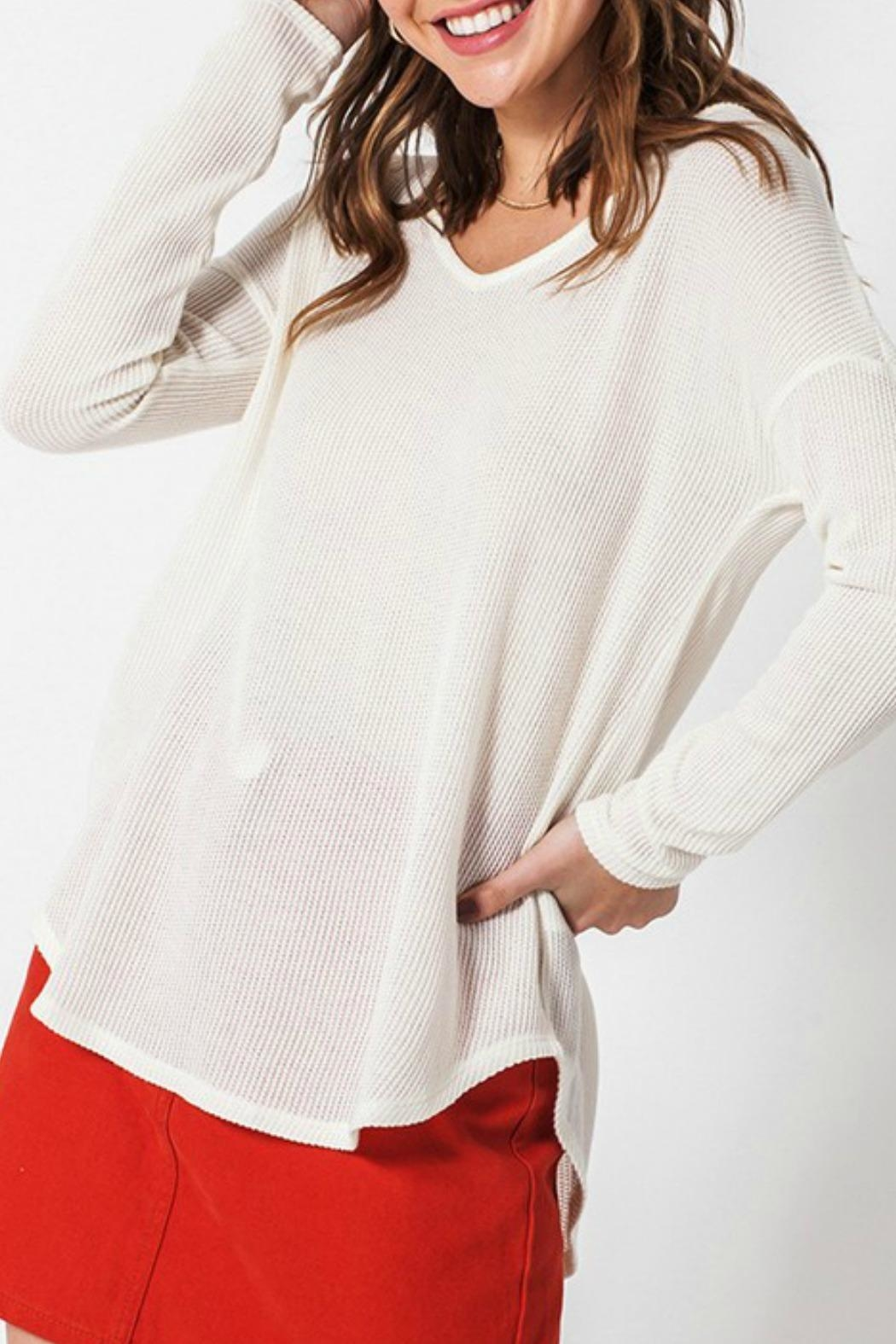 HYFVE Jane Waffle Thermal - Front Cropped Image