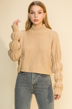HYFVE Knitted Pullover Long Sleeve Sweater - Product List Image
