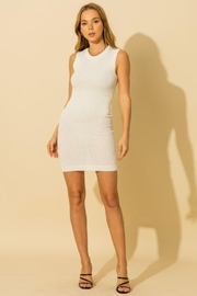 HYFVE Knitted Sleeveless Mini Dress - Front cropped